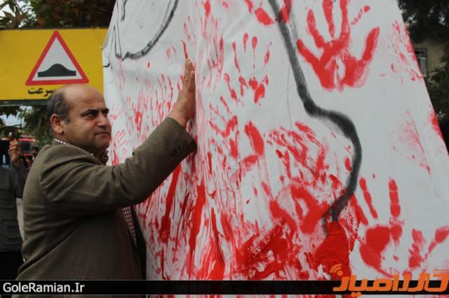 حمایت دانش آموزان رامیانی از خلیج فارس8