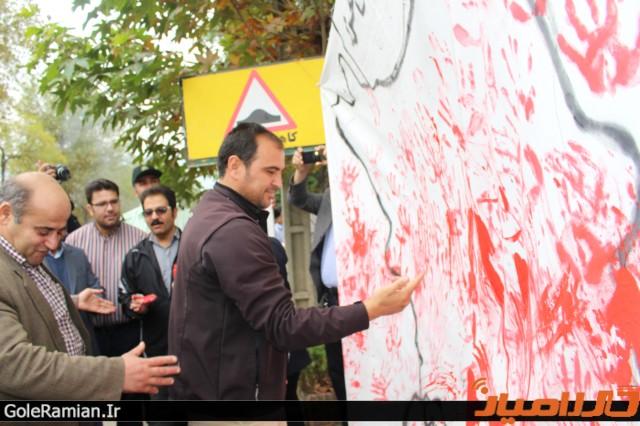 حمایت دانش آموزان رامیانی از خلیج فارس9