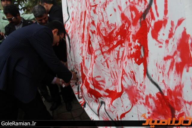 حمایت دانش آموزان رامیانی از خلیج فارس4