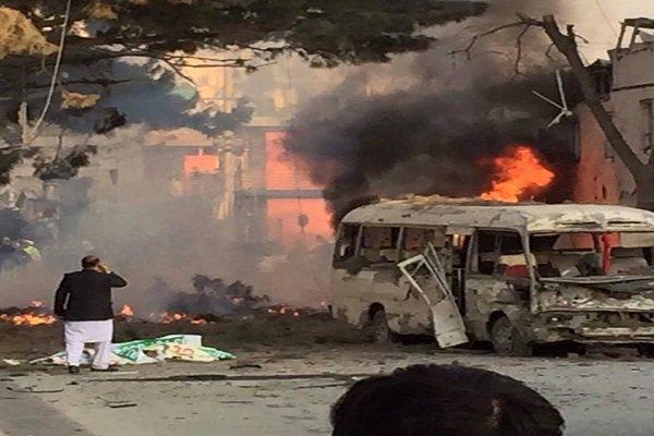 لحظه وقوع انفجار در کابل