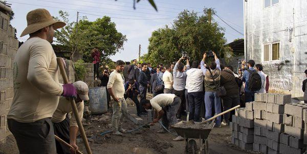 82 ساختمان مسکونی سیلزدگان آققلا برای بازسازی به گروه های جهادی واگذار شد