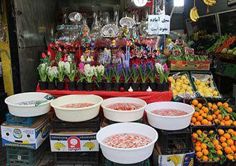 تصاویر/ بازار سبزه، ماهی قرمز و هفت سین در گرگان