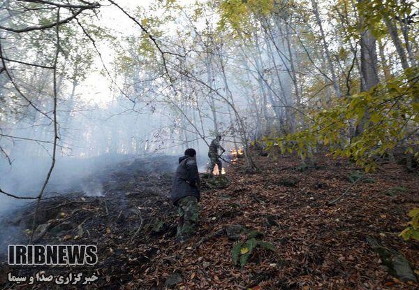 مهار آتش سوزی در ارتفاعات جنگلی در غرب گلستان