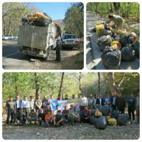 پاکسازی بخشی ازجاده آسیایی در پارک ملی گلستان از زباله