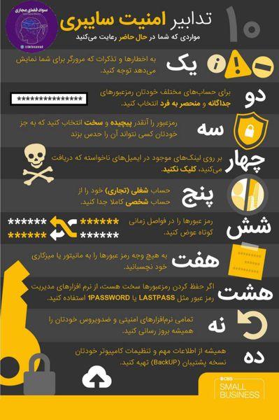 10 نکته امنیت سایبری که باید بدانید