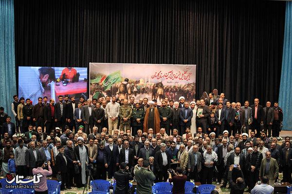 آیین تجلیل از خادمان اربعین حسینی گلستان+تصاویر