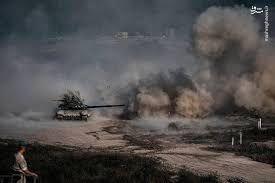 فیلم/ مشاهده تبادل آتش آذربایجان و ارمنستان از شهر مرزی