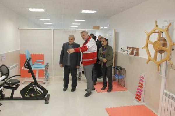مرکز فیزیوتراپی جمعیت هلال احمر در مینودشت راه اندازی شد