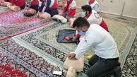 باز آموزی کمک های اولیه ۶۰ پرسنل مربی هلال احمر گلستان