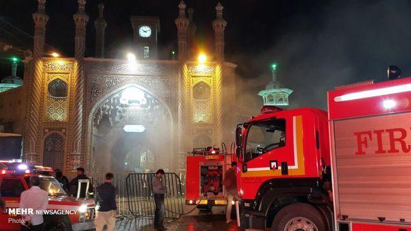 آتش سوزی در حرم حضرت معصومه (س) + عکس