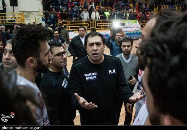 سرمربی تیم بسکتبال شهرداری گرگان: اشتباهات داوری در نتیجه بازی اثرگذار نبود