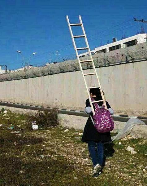 """دختری که هر روز با """"نردبان"""" به مدرسه می رود! +عکس"""