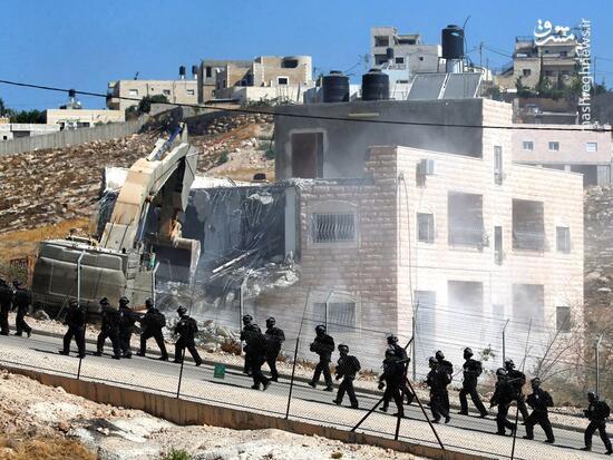 تخریب منازل فلسطینی ها توسط ارتش رژیم صهیونیستی + فیلم