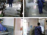 گند زدایی و ضد عفونی کردن ساختمان های اداره کل ورزش و جوانان استان گلستان