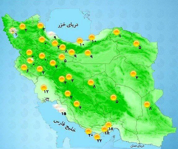 هواشناسی ایران امروز ۹۸/۱۲/۱۶ | بارش برف و باران از عصر امروز آغاز میشود