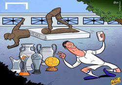کاریکاتور/ تخریبگر مجسمه مسی