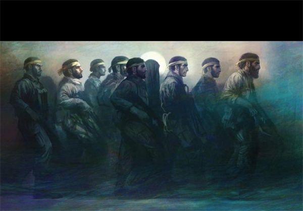 تابلوی نقاشی برای مدافعان حرم+تصویر