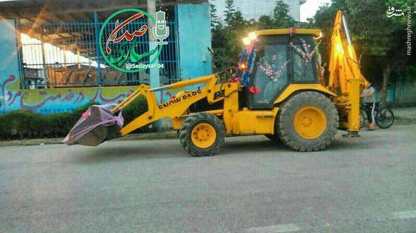عکس/ ماشین عروس عجیب در جویبار