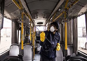 آمادگی ناوگان حمل و نقل عمومی گرگان در مقابله با ویروس کرونا