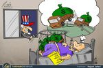 کاریکاتور/ مفت خوری آمریکا