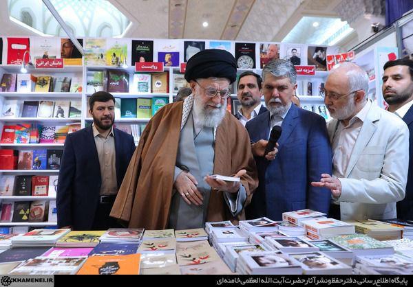 امضای رهبر انقلاب پای کتابی درباره عماد مغنیه +تصویرنوشته
