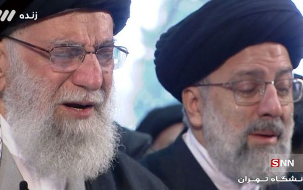 گریه سنگین رهبر معظم انقلاب بر پیکر سردار شهید سلیمانی + فیلم