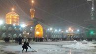 فیلم/ بارش برف در حرم مطهر امام رئوف