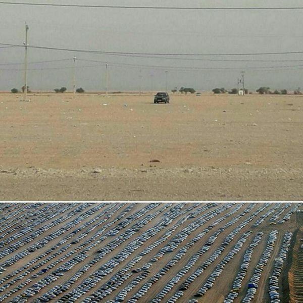 تنها خودروی جا مانده در پارکینگ اربعین در مهران + عکس
