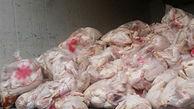 گوشت مرغ های فاسد در مینودشت معدوم شدند