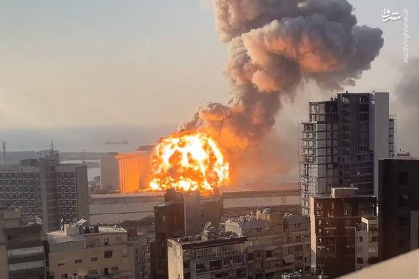 فیلم/ لحظه انفجار بیروت از نگاه دوربین مداربسته