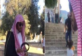 فیلم/ استقبال با لنگه کفش از یک سعودی!