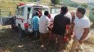 واژگونی کمباین در اراضی کشاورزی گالیکش