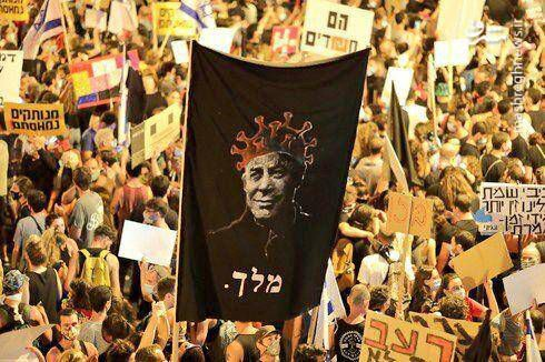 فیلم/ قُرُق شبانه خیابانها توسط مخالفان نتانیاهو