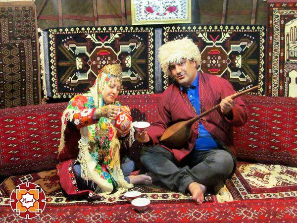 تصاویر/حال و هوای دهکده توریستی سنتی آق قلا در ایام نوروز