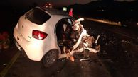 تصادف تریلی با یک دستگاه خودرو سواری ۴مصدوم در پی داشت