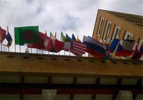 راز نصب پرچم آمریکا در خیابان ولیعصر(عج)+عکس