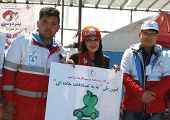 عکس/ پیوستن تورسیت ایتالیایی به کمپین نه به تصادفات جاده ای