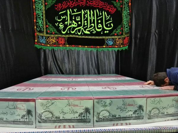 ورود 4 شهید گمنام جنگ هشت سال دفاع مقدس + عکس