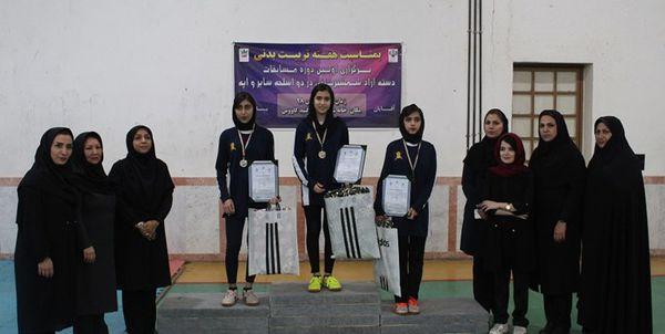 معرفی نفرات برتر مسابقات شمشیربازی بانوان استان گلستان