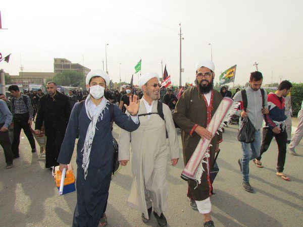 تصاویر/ حضور روحانیون شیعه و سنی گلستانی در پیادهروی اربیعن