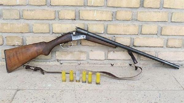 کشف و ضبط یک قبضه سلاح دولول غیر مجاز در مینودشت