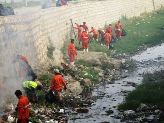 طرح تنظیف رودخانه قاضی محله کردکوی+تصاویر