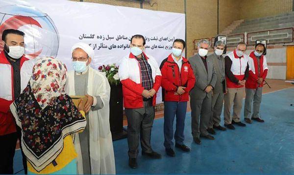 اهدای «۲۱۹ تبلت» به دانش آموزان مناطق سیلزده استان گلستان از سوی جمعیت هلال احمر