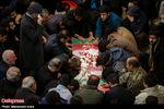 تصاویر/ تشییع پیکر شهید مدافع حرم روح الله قربانی