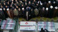 دعای رهبر انقلاب در نماز بر پیکر سردار شهید سلیمانی