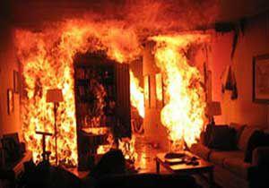 نشتی کپسول گازمایع در منزل مسکونی / مواد محترقه سبب انفجار شد