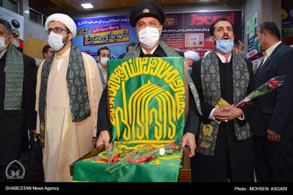 خدام رضوی با پرچم متبرک امام رضا (ع) وارد گرگان شدند+گزارش تصویری