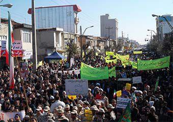 تصاویر/ راهپیمایی حماسی 22 بهمن در بندرترکمن