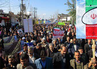 تصاویر/ راهپیمایی حماسی 22 بهمن در آزادشهر