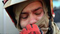 عکس/ وضعیت این روزهای آتش نشانان حاضر در پلاسکو